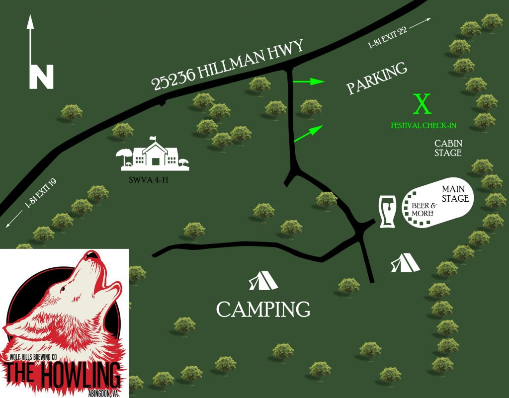 The Howling Festival Map